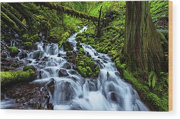 Waterfalls Wood Prints