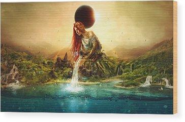 Aquarius Wood Prints