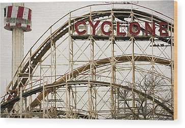 Cyclone Rollercoaster Wood Prints