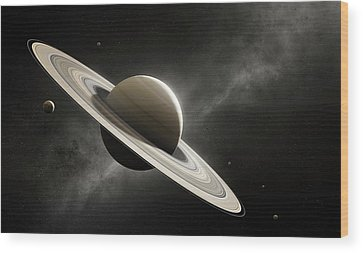 Saturn Wood Prints
