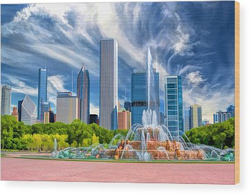 Buckingham Fountain Wood Prints