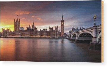 Westminster Palace Wood Prints