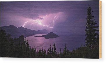 Crater Lake Wood Prints