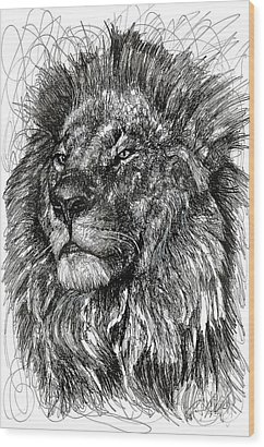 Lions Mane Wood Prints