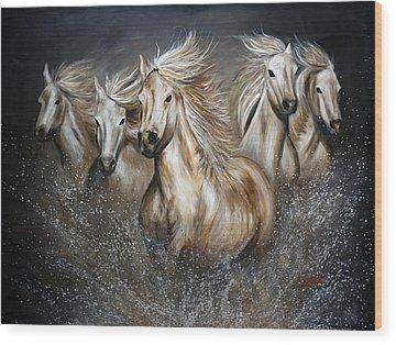 Wild Mustang Wood Prints