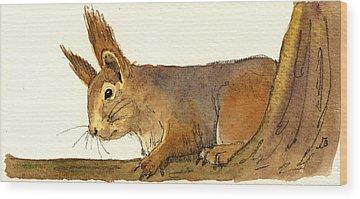 Chipmunks Wood Prints