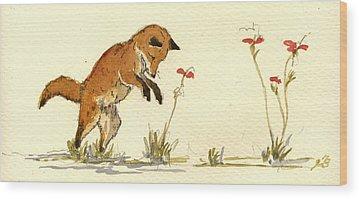 Fox Hunt Wood Prints