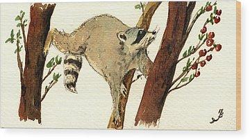 Raccoon Wood Prints