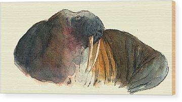 Walrus Wood Prints