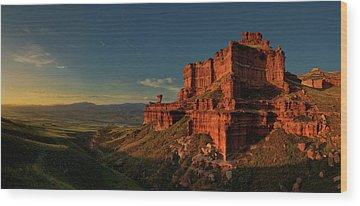Mountain Sunset Wood Prints