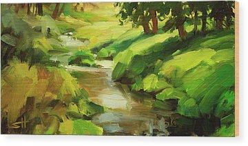 Creek Bank Wood Prints