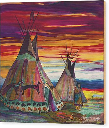Teepee Wood Prints