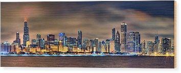 Chicago Skyline Wood Prints