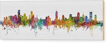 Miami Skyline Wood Prints