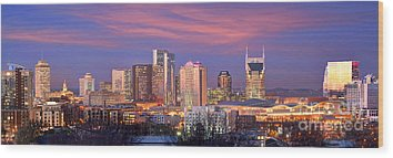 Nashville Skyline Wood Prints