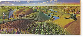 Farms Wood Prints