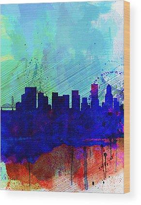 Portland Cityscape Wood Prints