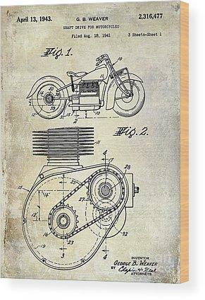 Harley Davidson Patent Wood Prints