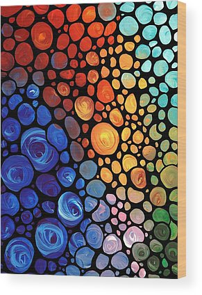 Abstract Landscape Wood Prints