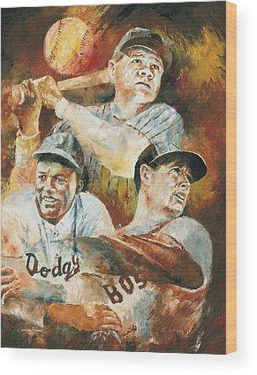 Babe Ruth Wood Prints