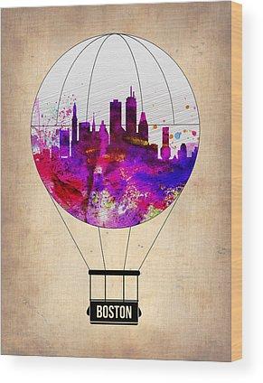 Boston Skyline Wood Prints