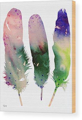 Childrens Paintings Wood Prints