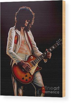 Jimmy Page Wood Prints