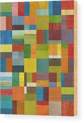 Retro Abstract Wood Prints