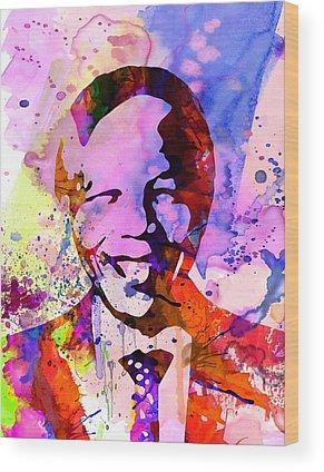 Nelson Mandela Wood Prints