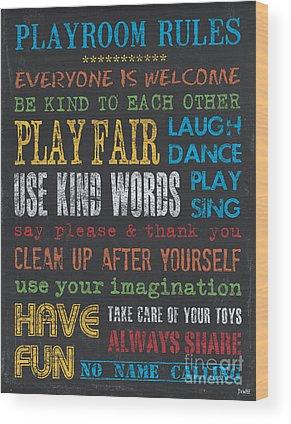 Playrooms Wood Prints