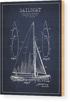 Patent Illustration Wood Prints
