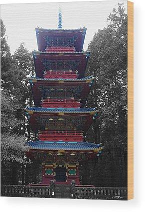 Pagoda Wood Prints