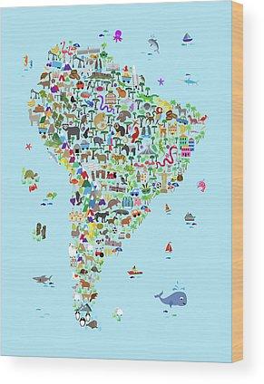 Latin America Wood Prints