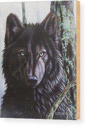 Airbrushed Wood Prints