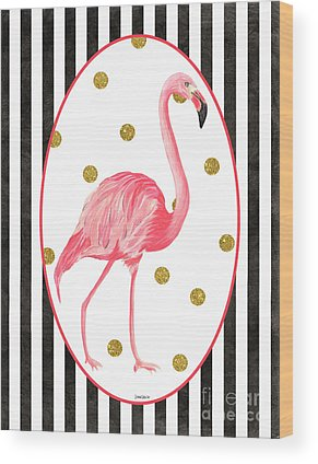 Flamingo Flower Wood Prints