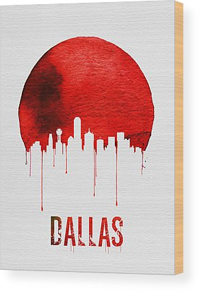 Dallas Skyline Wood Prints