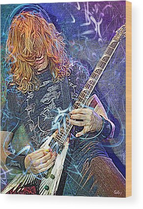 Dave Mustaine Wood Prints