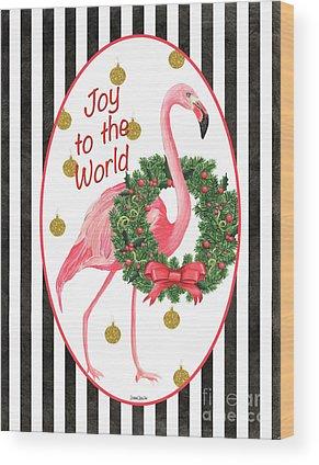 Pink Ribbon Wood Prints