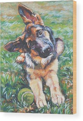 German Shepherd Wood Prints