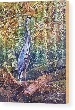 Great Blue Heron Wood Prints