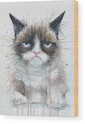Watercolor Pet Portraits Wood Prints