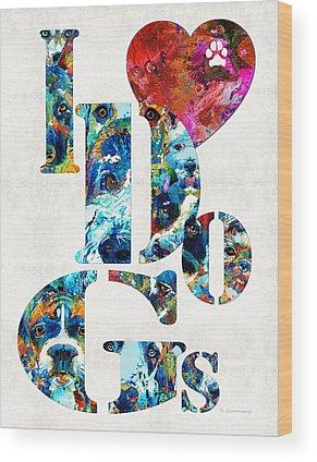 French Bull Dog Wood Prints