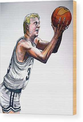 Larry Bird Wood Prints