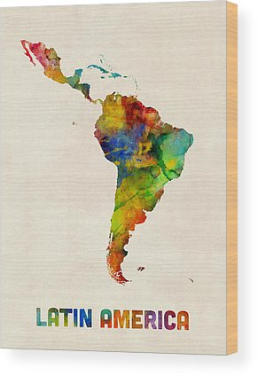 South America Wood Prints