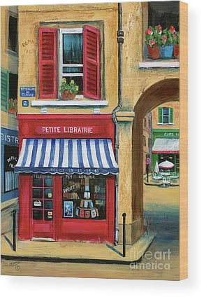 French Cafe Scene Wood Prints