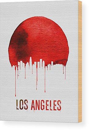 Los Angeles Skyline Wood Prints