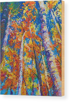 Palette Knife Wood Prints