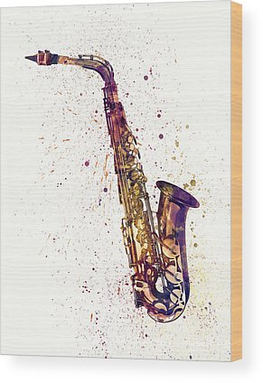 Saxophone Wood Prints