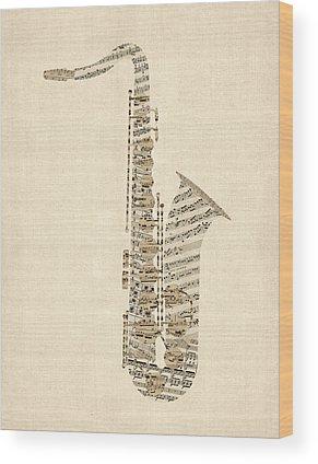 Sheet Music Wood Prints