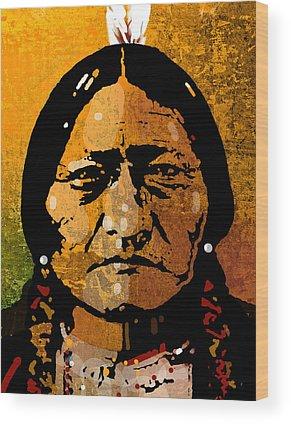 Indian Portraits Wood Prints